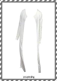 Maxi cardigan longo off white
