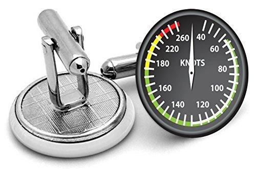 Aviation Air vitesse pilotes boutons de manchette pliant Livré dans pochette cadeau