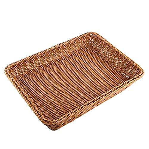 tellaLuna Cesta de mimbre de almacenamiento, cesta para pan, supermercado, para alimentos, frutas, verduras, restaurante, etc