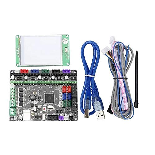 DYecHenG Carte mère d'imprimante 3D 3D imprimante 2.8 Pouces LCD Tactile Couleur Pleine écran d'affichage + MKS-GEN L V1.0 Contrôleur intégré Mainboard Meilleure Dissipation Thermique