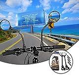 fruitlet Espejos Retrovisor Bicicleta 2pcs, Espejo Bicicleta 360° Adjustable Giratorio, HD Gran Angular Espejos Bicicleta para Bicicleta Manillar, Bicicletas de Montaña, de Carretera y Eléctricas