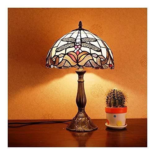 Arte Tiffany lámpara de cabecera del dormitorio Cafe Estudio de Abogados de Estados Unidos País tabla creativa de la lámpara de interior de la sala de estar dormitorio escritorio de oficina Mesita de