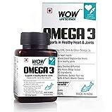 WOW Omega-3 Fish Oil Triple Strength 1000mg (550mg EPA; 350mg DHA; 100mg Other Omega 3 Fatty Acids)...