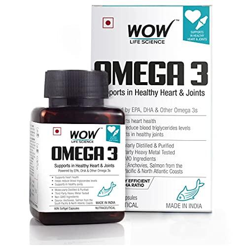 WOW Omega-3 Fish Oil Triple Strength 1000mg (550mg...