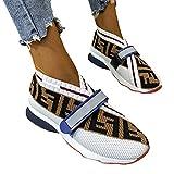Zapatos Deportivos Para Mujer Moda Azul Diseño Personalidad Inglesa Zapatos Deportivos Verano Al Aire Libre Para Correr Conjuntos Pies Transpirables Boca Baja Hombres Y Mujeres Frescos,Blanco,37