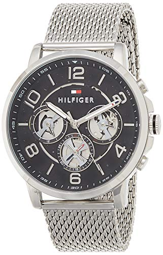 Tommy Hilfiger Herren Analog Quarz Uhr mit Edelstahl Armband 1791292