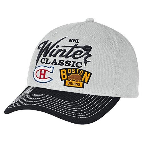 Reebok NHL Herren Wintermütze, klassisch, Dueling, strukturiert, verstellbar, Einheitsgröße, Grau