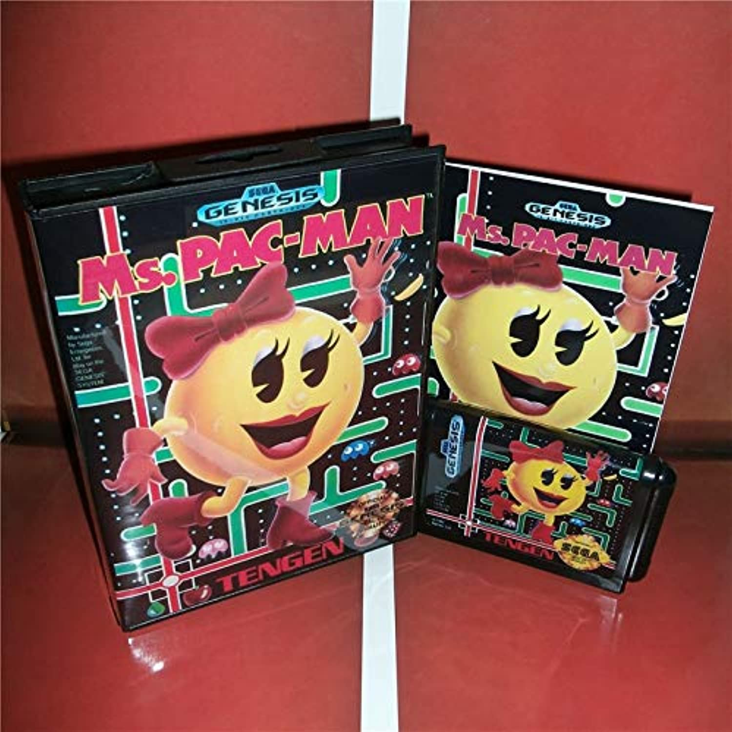 Value-Smart-ToysMs.Pac-Man US Cover with Box and Manual for Sega Megadrive Genesis Video Game Console 16 bit MD Card