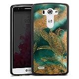 DeinDesign Coque en Silicone Compatible avec LG G3 Étui Silicone Coque Souple Feuilles Motifs Or