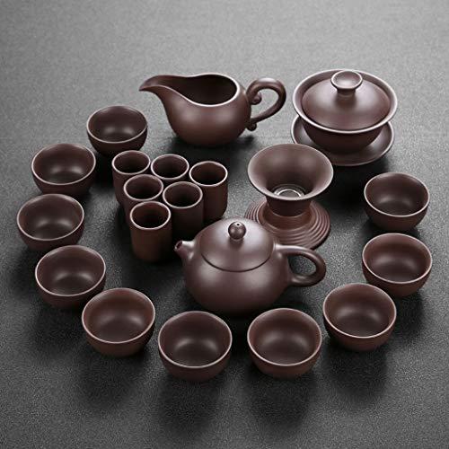 Diaod Juego de té de Kung fu Tetera Hecha a Mano púrpura Arcilla té Taza Taza Conjunto, zisha Ceramic Chino té té Regalo