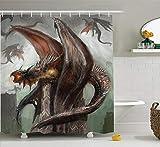 Nyngei Fantasy World Decor Collection Dragons dans la Bataille à la Guerre Feu crachant Le Serpent bête reptilien Monstre Animal...