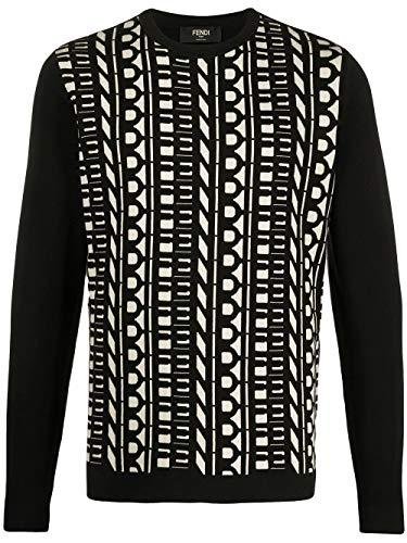 Fendi Luxury Fashion Herren FZY072ABDDF19OS Schwarz Baumwolle Sweater | Frühling Sommer 20