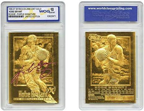 KOBE BRYANT 1996 97 Skybox EX 2000 Rookie 23KT Gold Card GEM MINT 10 Purple SS product image