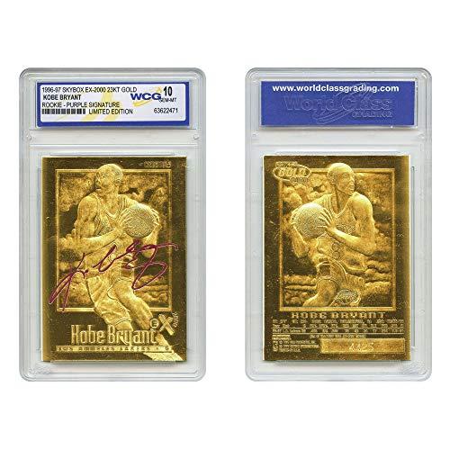 Kobe Bryant 1996-97 Skybox EX-2000 Rookie 23KT Gold Card GEM Mint 10 Purple SS