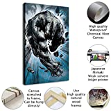 Villain Rhino Painting HD Canvas Prints Home Room Wall Art Decor Superhero Poster Canvas Artwork with Frames/Frameless for Office Bedroom Wall Decoration (Framed,8'x12')