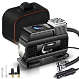 AnvFlik Digital Tyre Inflator, for Car Bike Inflatables Portable Air Compressor Electric, 12V DC 100PSI,Car...