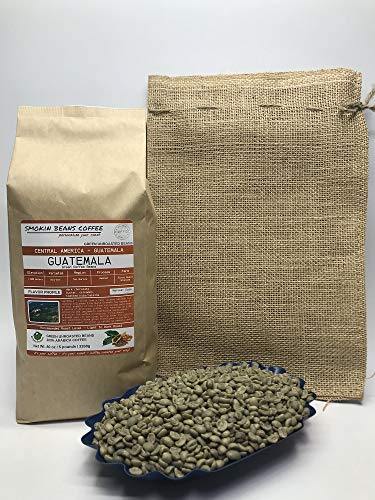 5 Pounds – Central American - Guatemala – Unroasted Arabica Green Coffee Beans – Grown in San Marcos Region – Altitude 1800M – Drying/Milling Process Washed – Finca Nueva Granada - Includes Burlap Bag