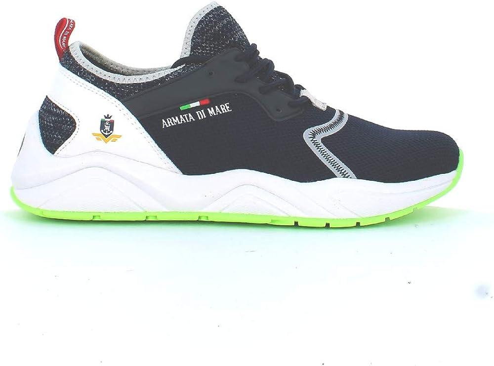 Armata di mare , scarpe per uomo, sneakers alte , in pelle sintetica e tela