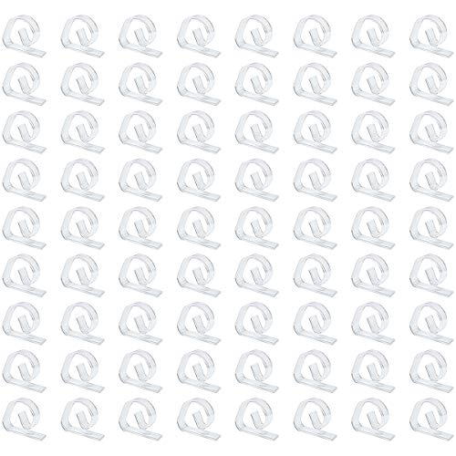 FEIGO 72 Pezzi Clip Tovaglia Trasparente, Clip Fermatovaglia Plastica per Casa, Ristorante, Picnic e Altro Ancora (72)