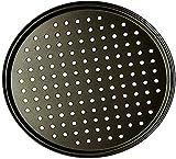 26/28/32 CM de acero al carbono antiadherente para hornear Pizza bandeja de malla plato redondo plato hondo bandeja de pizza molde para hornear herramientas para hornear bandejas de Pizza-Los 28c