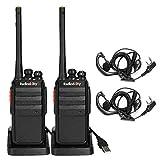 Radioddity R2 Talkie-Walkie Professionnel PMR446 Talkie Walkie Rechargeable Longue Portée...