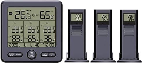 William-Lee Termómetro digital higrómetro estación meteorológica inalámbrica con alarma máxima mínima ℃/℉