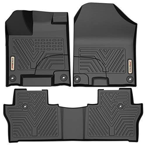 YITAMOTOR Floor Mats Compatible with Honda Pilot, Custom Fit Floor Liners for 2016-2020 Honda Pilot, 1st & 2nd Row All Weather Protection