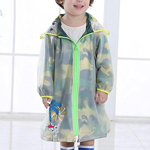 ZZHF Yuyi Camo Kinder Regenmantel/Kindergarten Baby Kreativität Regenmantel/Student Schultasche Bit Poncho/atmungsaktiv Umweltschutz Regenmantel (Farbe : B, größe : XL)