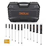 TACKLIFE Screwdriver Set,12pcs Magnetic Slotted/Phillips Screwdrivers With Case-HSS7A