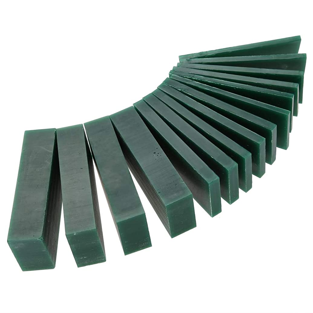 15 PCS 4/6/8/21/23mm Thickness Green Carving Wax Piece, Jewelry Engraving Making Tool Mold Wax Ring Solid Carving Wax for Jewelry Ring Tool practice