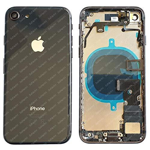 Back Cover Telaio SCOCCA Posteriore Vetro iPhone 8 A1863 A1905 A1906 Nero Flat