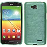 PhoneNatic Custodia Compatibile con LG L90 Cover Verde Brushed L90 in Silicone + Pellicola Protettiva