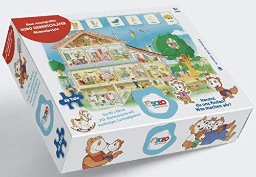 Bobo Siebenschläfer Puzzle: XXL - Bodenpuzzle mit 48 großen Teilen ab 3 Jahren - Mein riesengroßes Bobo Siebenschläfer Wimmelpuzzle