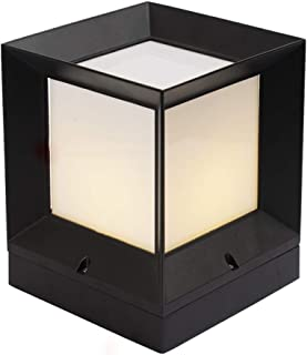 Black and White Modern Oriental Style Solar Powered LED Outdoor mounted Wall Lights,Contemporary Garden Lighting For Walkw...