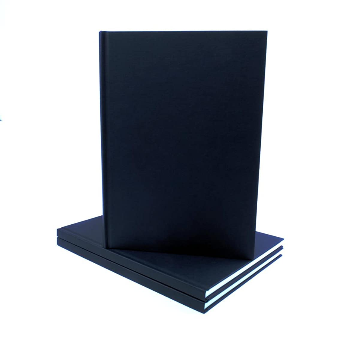 SEAWHITE Black Cloth Hardback Artists Sketchbook 140gsm Portrait A4-210x297mm