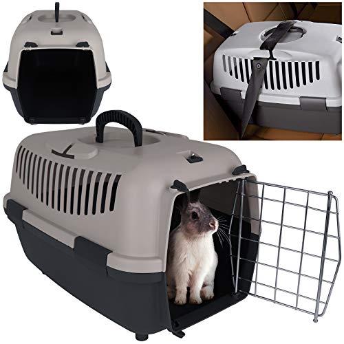 TW24 Transportbox mit Metalltür Tiertransportbox Katze Haustiere Katzenbox Tierbox Katzentransportbox