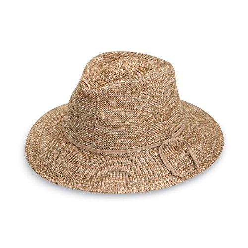 Women's Victoria Fedora Sun Hat – UPF 50+, Adjustable, Packable, Mixed Camel