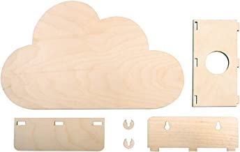 29 x 18,3 x 7,5 cm Rayher 62988505 Holzbausatz Lampe kl Box 1 Set Normal 6-teilig Natur Zug,FSCMixCred