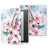 MoKo Funda Compatible con Kindle Oasis 9th Generation 2017 y Kindle Oasis 10th Generation 2019 Release - Ultra Delgada Ligera Smart-Shell Soporte Cover Case - Flor de melocotón