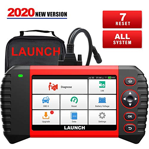 LAUNCH Scanner CRP Touch PRO Elite Scan Tool with All System Diagnostic Tool, 7 Reset Oil SAS EBP BMS Reset DPF ABS Bleeding Throttle Adaptation 7.0 Android Wi-Fi Update (2020 Newest Version)