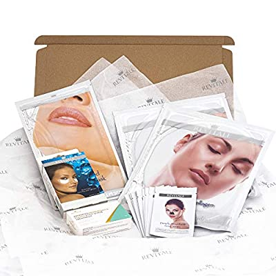 Revitale Beauty Spa 'Look Good' Hamper Gift Set - Collagen, Cleanse, Hydrate (Face, Eye, Neck, Nose, Feet) from Revitale