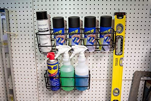 TCD Parts Inc. Spray Bottle Rack 3 Hole - Mounts to Wall - Heavy Duty Wire