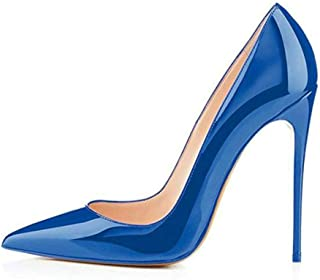b3a673a480cc MagicXle Chaussures à Talon Haut pour Femmes Tip Top à Talons Hauts en Cuir  Verni à