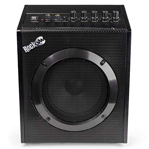RockJam 20 Watt Electric Guitar Amplifier with Headphone Output, Three-Band EQ, Overdrive & Gain