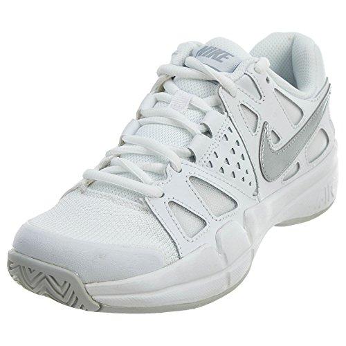 Nike Nike Damen 599364-100 Tennisschuhe, Weiß (White/Metallic Silver Pure Platinum), 38.5 EU