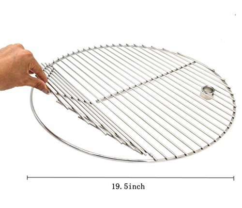 ZHOUWHJJ BBQ Stainless Steel 19.5 Inches Round Cooking Grate Cooking Grid Fit for Akorn Kamado Ceramic Grill and Other Grills