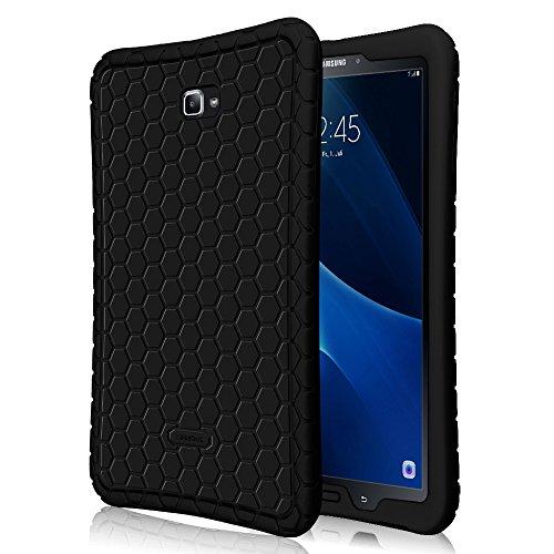 "FINTIE Custodia per Samsung Galaxy Tab A 10.1 - [SerieHoney Comb] Ultra Leggera Custodia Protettiva Antiurto in Silicone per Samsung Galaxy Tab A 10,1""(2016) SM-T580N / SM-T585N Tablet, Nero"