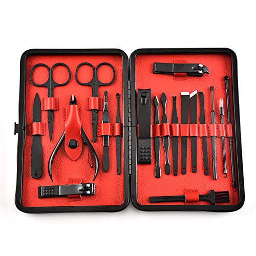 Kapmore Trousse à Outils de Manucure 19PCS Multifonctionnel Outil Professionnel de soin d'ongle Pour le sSalon