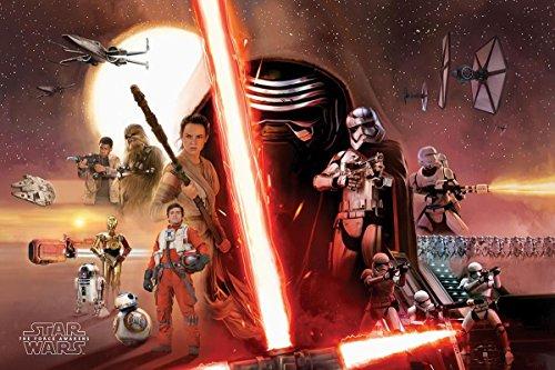 Póster Star Wars: Episodio VII - Colaje Galáctico (91,5cm x 61cm)