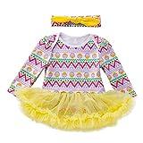 Moneycom - Tutù per neonato, bambina, principessa, uovo di Pasqua, tutù, vestito per compleanno, in tulle, chic, cerimonia, matrimonio, giallo giallo 3-6 Mesi